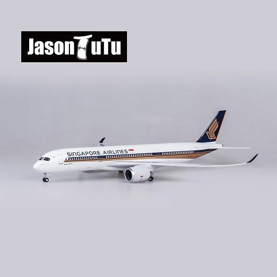1/150 Scale JASON TUTU 47cm Singapore Airlines Airbus A350 Airplane Model