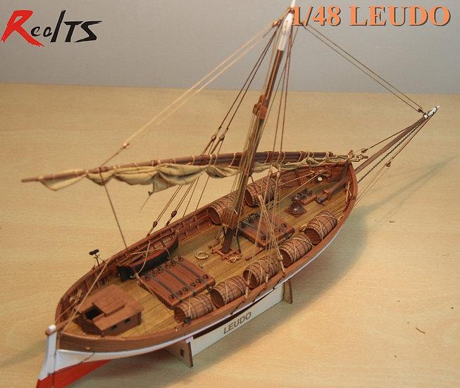 RealTS Laser-Cut Wooden Ancient Mediterranean Sailboat -  Challenging Model Kits