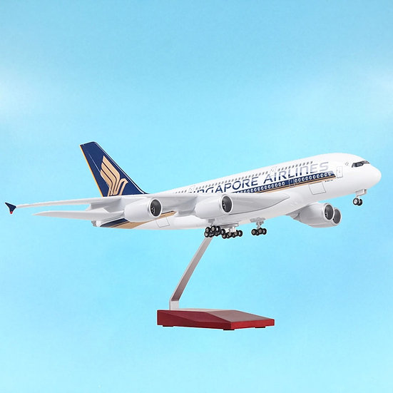 1/160 Scale 50CM Aviation Airbus A380 Singapore Airline Model