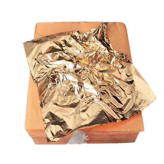 100Pcs 14x14cm Gilding Foil Papers - Imitation Gold Sliver Copper