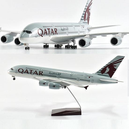 1/160 Scale JASON TUTU 46cm Qatar Airbus 380m Airplane Model