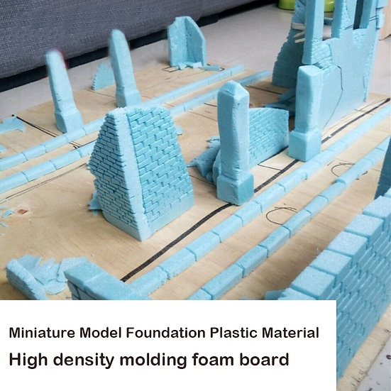 Miniature Model Foundation Plastic Material  High Density Moulding Foam Board
