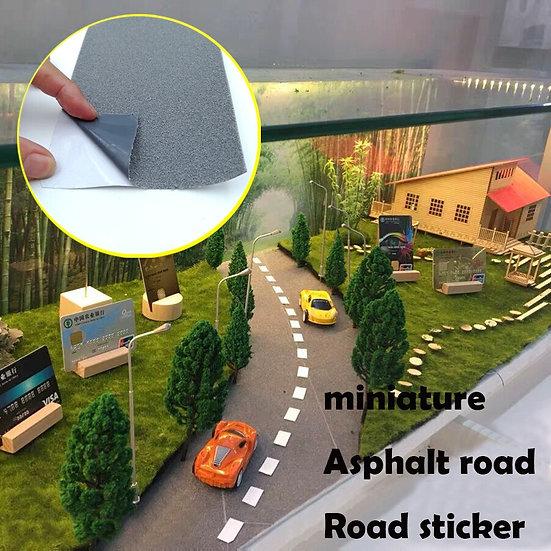 Miniature Asphalt Road Sticker - Road Marking Paper - DIY Material