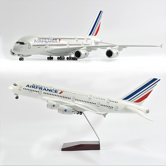 1/160 Scale JASON TUTU 46CM Air France Airbus A380 Airplane Model