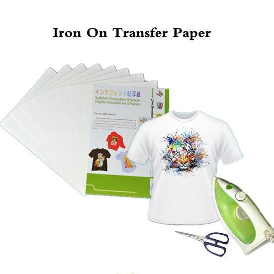 20pcs Iron on Inkjet Heat Transfer Printing Paper A4 Inkjet for Textile