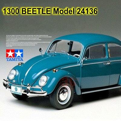 1:24 Scale Assembly Car Model 1300 Beetle 1966 Tamiya 24136 Car Building Kits