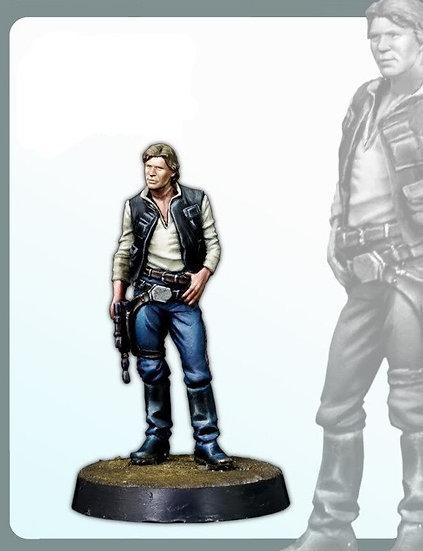 Classic 30MM Han Solo Miniatures - Unpainted Resin Model Figure Kit