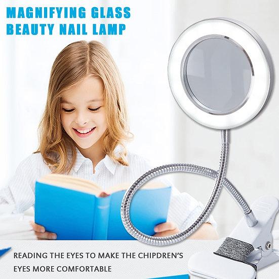 Multifunctional Table Lamp Magnifying Glass Lamp Clip Desk Lamp