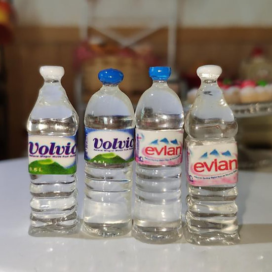 1:12 Scale Miniature Food Water Drinks Bottles for Doll House