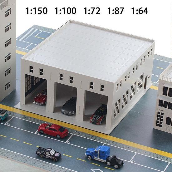 1:150/100/87/72/64 Scales - Miniature Car Garage Factory Workshop Warehouse -Kit