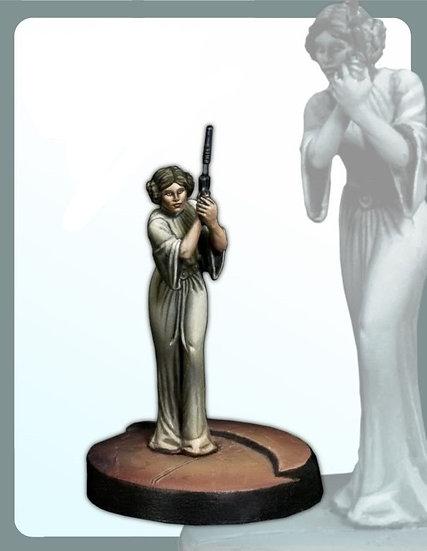 Classic 30MM  Princess Leia Miniatures - Unpainted Resin Model Figure Kit