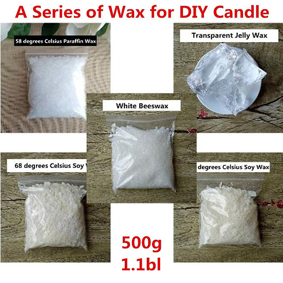 500g DIY Candle Making Materials - Candles Wax - Paraffin / Soy Wax / Beeswax
