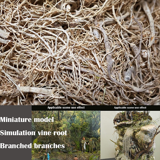 Model Simulation Vine Root Branched Branches Materials for DIY Model