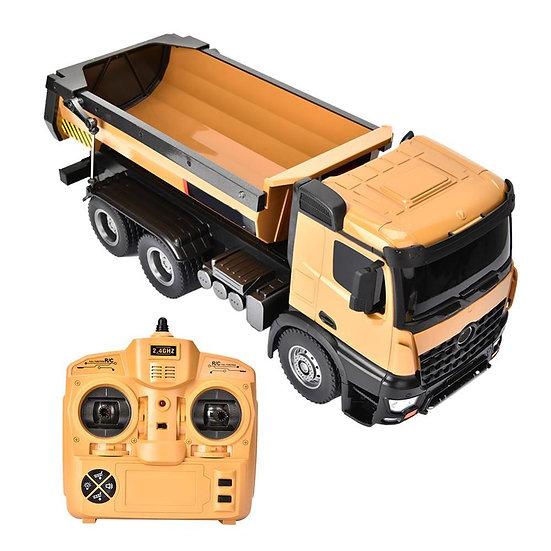 1/14 HUINA 1573 10CH RC Truck Alloy Dump Trucks Engineering Construction Model