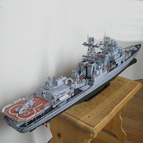 1:200 Admiral Levchenko Antisubmarine Ship DIY 3D Paper Card Model Building Set