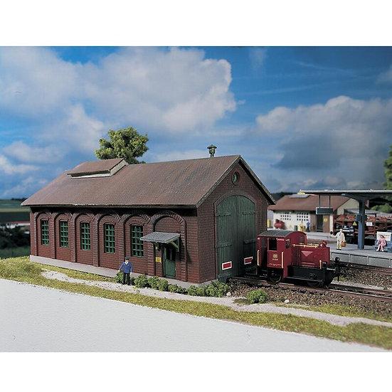 HO / 1:87  Germany Train Model Building Railway Garage #61823 ABS