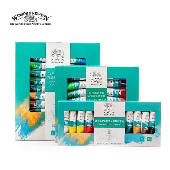 12 / 18 / 24 Color Professional Acrylic Paint Set for Artist