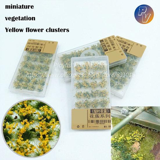 Miniature Vegetation Yellow Flower Clusters  DIY Material  28pcs/Box