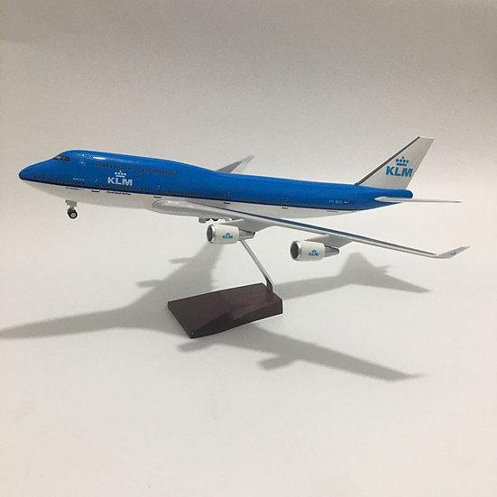 1:160 Scale JASON TUTU 46cm KLM Boeing B747 Airplane Model