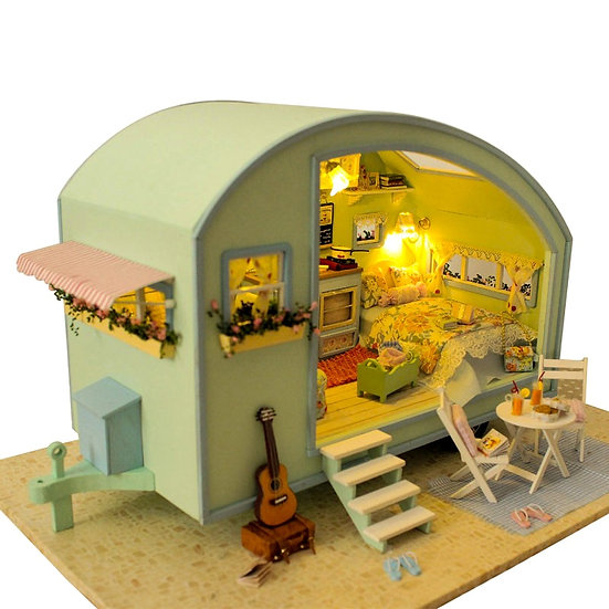 DIY Miniature Wooden Doll Houses Furniture Kit Time Travel Doll Houses A-016