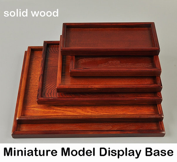 Tray / Model Platform Base - Solid Wood Density Board  Various Specifications