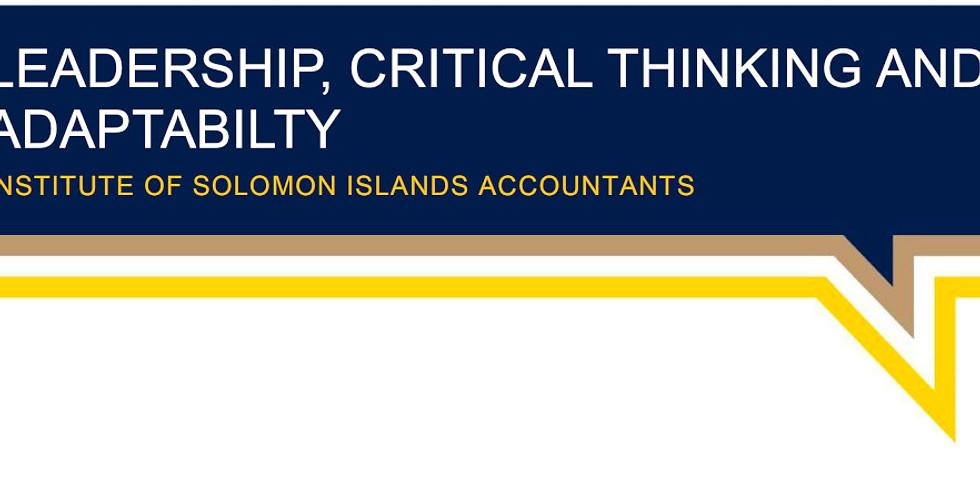 Leadership, Critical Thinking and Adaptability