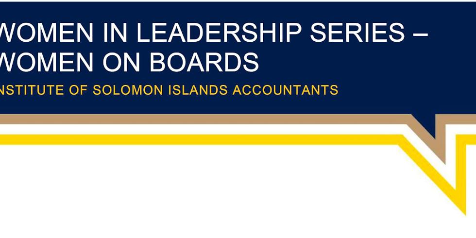 Women in Leadership Series – Women on Boards