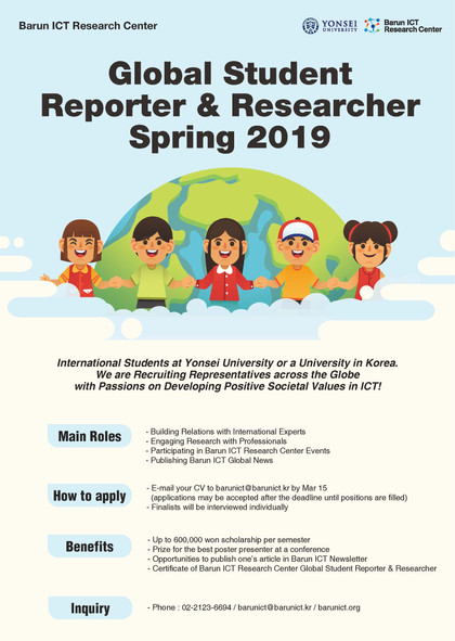Global Student Reporter & Researcher Spring 2019