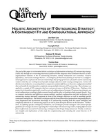 Holistic Archetypes of IT Outsourcing Strategy: A Contingency Fit and Configurational Approach
