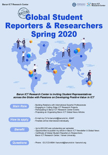 Global Student Reporter & Researcher Spring 2020