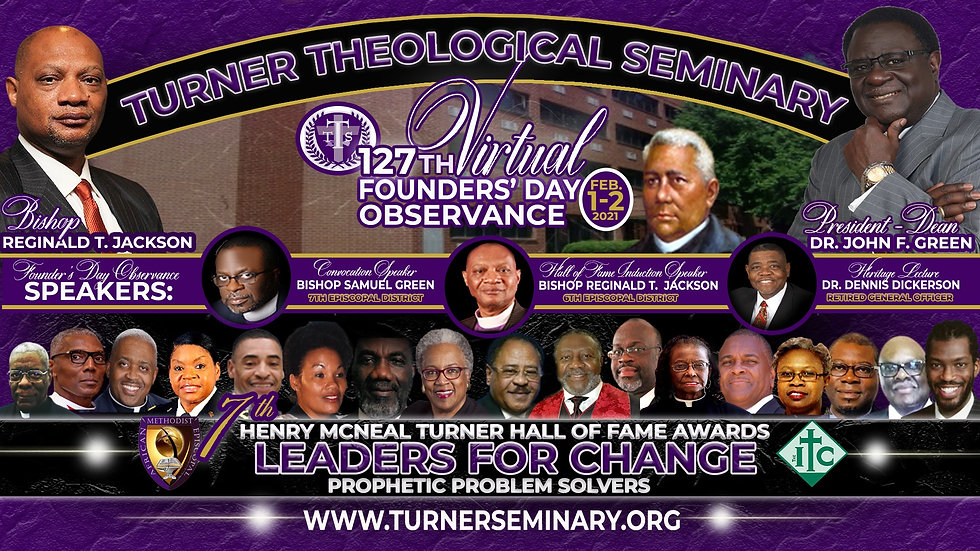 NEW Turner Founders Day Flyer - Black Ba