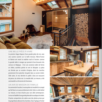 Article Chalet SiHO magazine Tendance Savoie Mont-Blanc