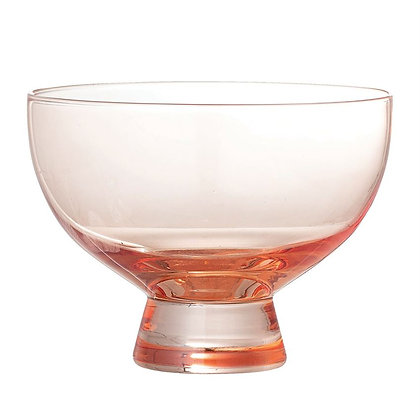 Blush Footed Glass Bowl