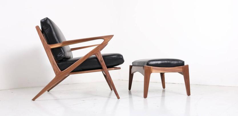 Solvang chair + ottoman