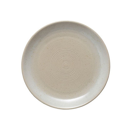 "Bone Stoneware Plate 6.25"""