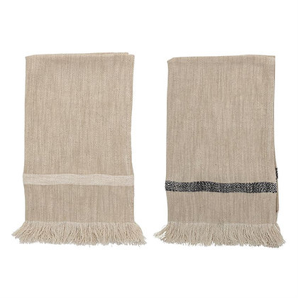 Woven Tea Towel with Fringe