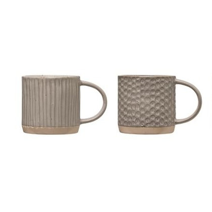 Natural Stoneware Mugs