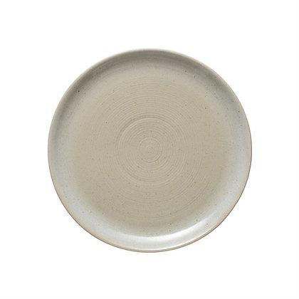 "Bone Stoneware Plate 10.5"""