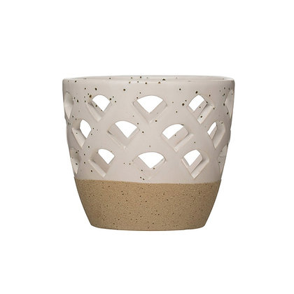 Ceramic White Votive Holder