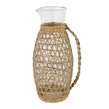 Seagrass Wrapped Pitcher