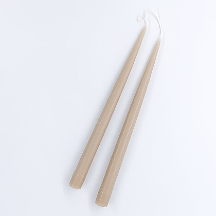 Danica Tapered Candles Pair  - Taupe