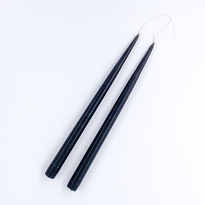 Danica Tapered Candles Pair - Black