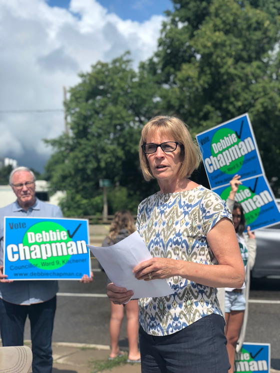 """Every vote counts!"": Debbie Chapman's second run for Kitchener's Ward 9."