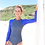 Shy Skin Dixon Long Sleeve Swimsuit in Royal Universe