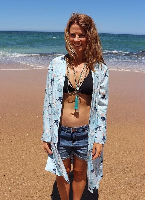 Shy Skin LouLou Waterbirds Kimono Beach Coverup made in Australia