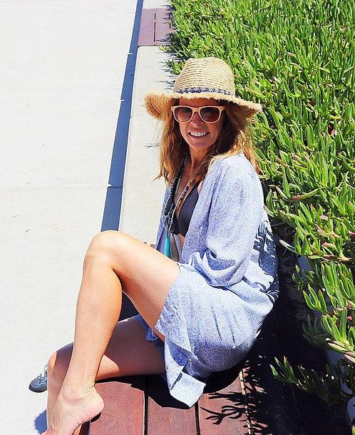 Shy Skin LouLou Universe Kimono Long Sleeve Beach Coverup made in Australia