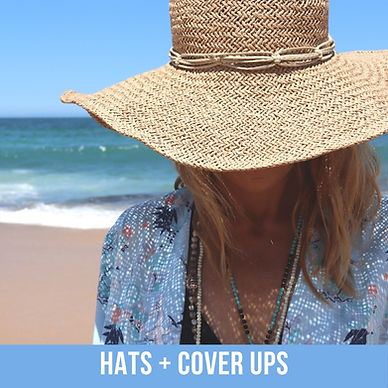 Beach cover ups and straw hats shy skin