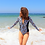 Thumbnail: Southerly Long Sleeve Swimsuit in Tiger Reef