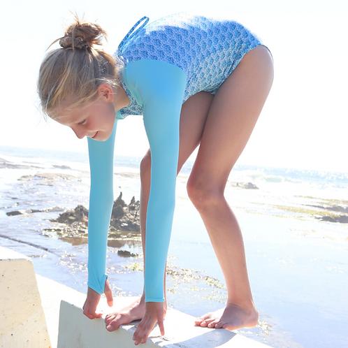 Blueys Girls Long Sleeve Swimsuit in Breezy