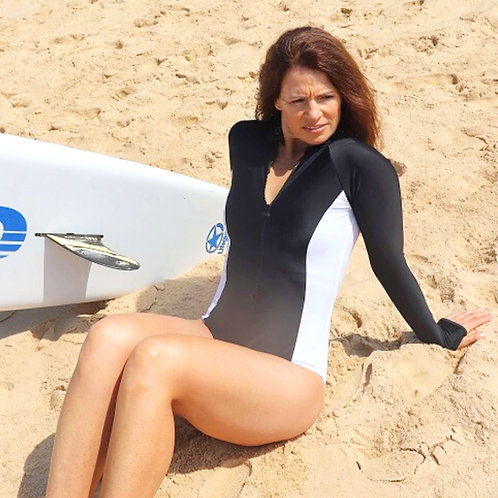 Southerly UPF50+ Long Sleeve Swimsuit in Illusion